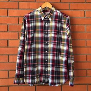 BROOKS BROTHERS Red Fleece Button Down Plaid Shirt